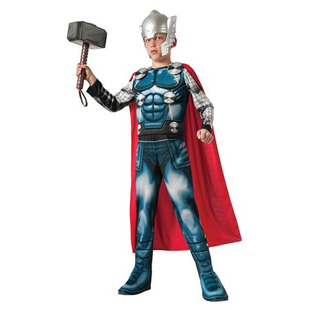 Boy's Muscle Thor Costume - Medium - Mens Thor Costume