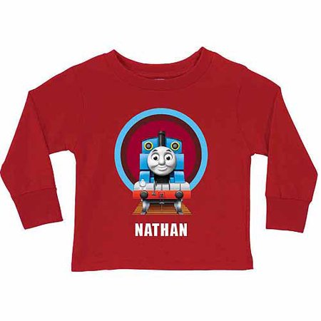 Personalized Thomas & Friends Boy's Red Tunnel Long Sleeve Tee