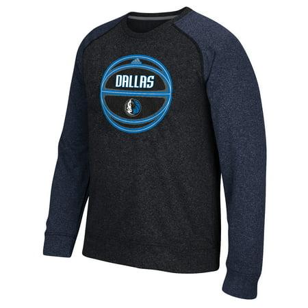 Adidas Dallas Mavericks Cut And Paste Climawarm Crew Neck Sweatshirt (Gray) by