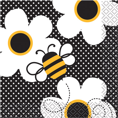 Bumble Bee Beverage Napkins, 16ct