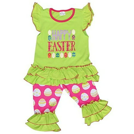 Unique Baby Girls Easter Egg Outfit (2T/XS, (Oshkosh Girls Green)
