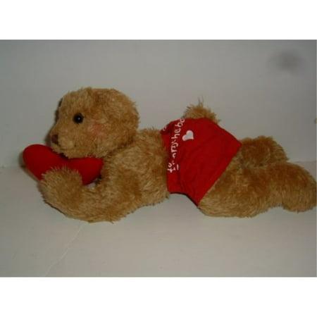 1 X Hallmark Bobby Boxer Valentine Plush Bear (Boxer Stuffed Animal)