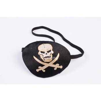 Halloween Pirate Eye Patch With Printing](Eyes Shot Out Halloween)