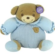 """Baby Bow Blue Playtime Bear 11"""" by Russ Berrie"""