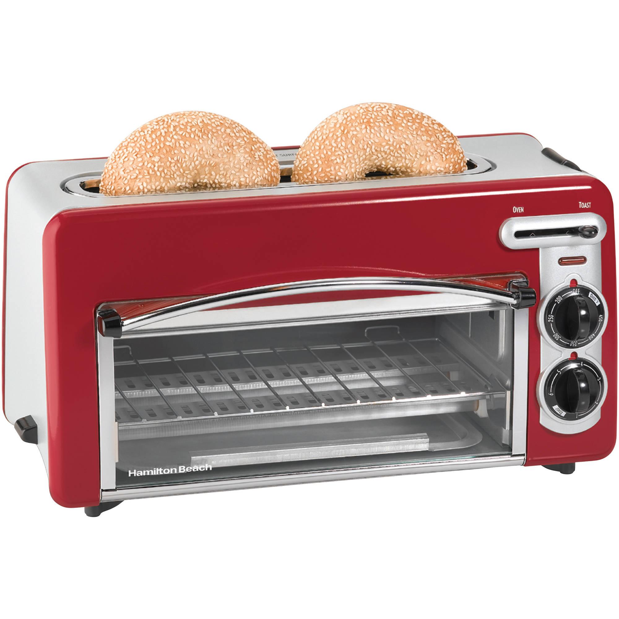 Hamilton Beach Toastation 2-in-1 2-Slice Toaster & Oven, 22703