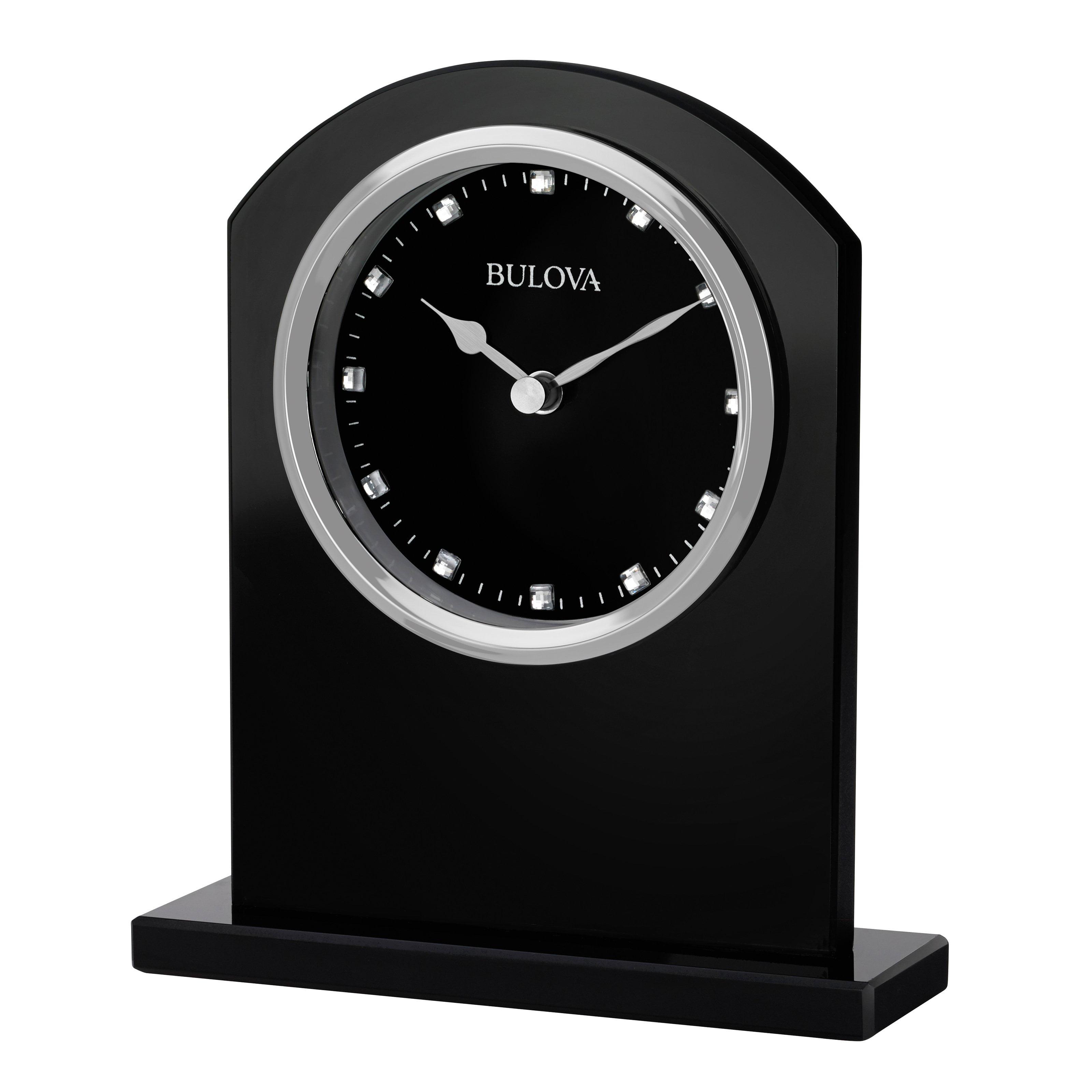 Bulova Ebony Crystal Desk Clock by Bulova