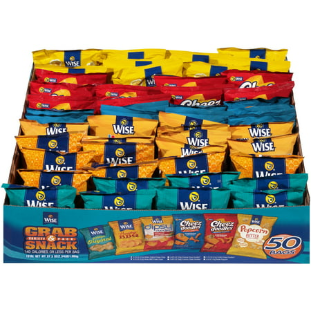 Wise Grab & Snack Assorted Snack Variety Pack, 37.5 Oz., 50 Count