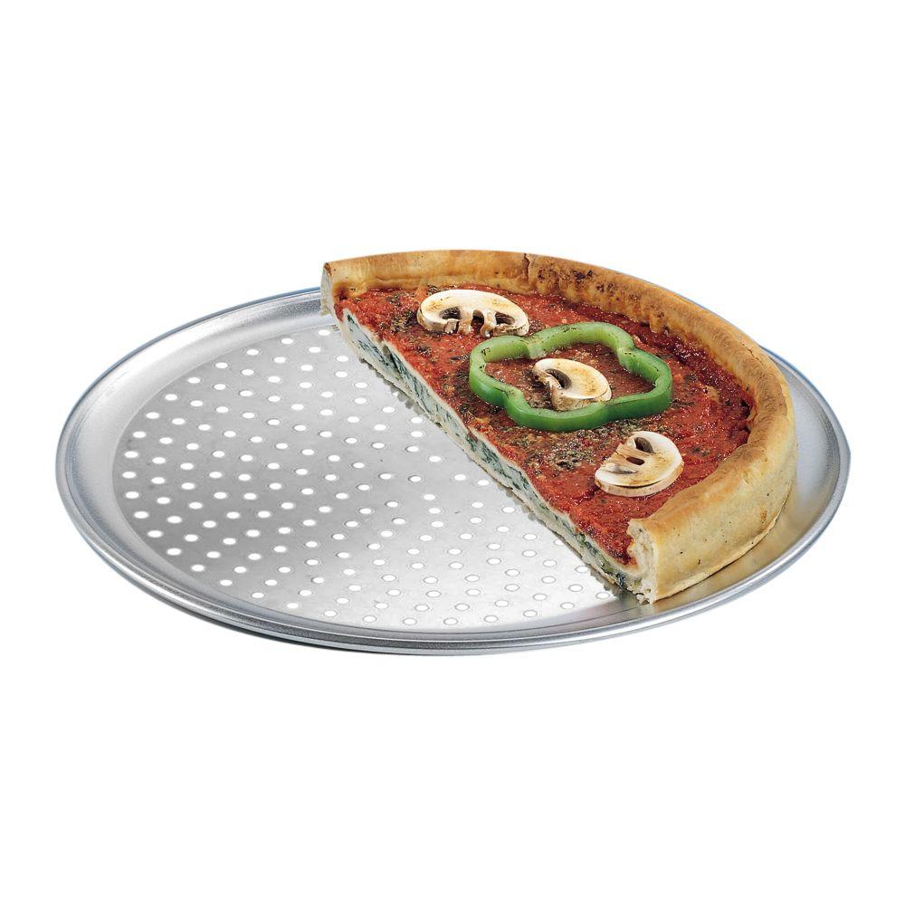 "American Metalcraft PTP16 Wide Rim Aluminum 16"" Perf. Pizza Pan by American Metalcraft"