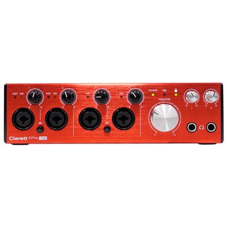 Focusrite Clarett 4Pre USB Audio Recording Interface w/ 4 Mic Preamps For PC+MAC