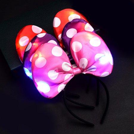 Talcum Powder Hair Halloween (LED Light Up Headbands, Kids 3D Cartoon Glowing Hairband, Children Hair Hoop for Christmas Halloween Gift)