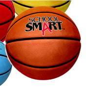 School Smart Rubber Traditional Basketball, Tan, Multiple Sizes