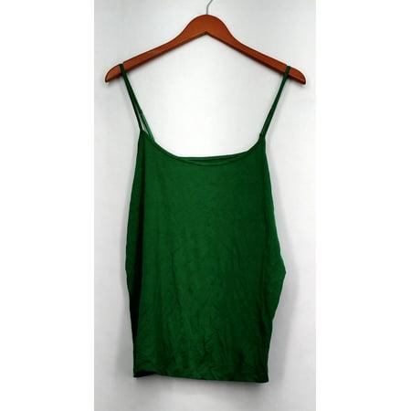 Merona Plus Size Top XXL Stretch Knit Camisole w/ Adjustable Straps Green