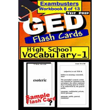 GED Test Prep High School Vocabulary 1 Review--Exambusters Flash Cards--Workbook 8 of 13 - eBook - Halloween Vocabulary High School