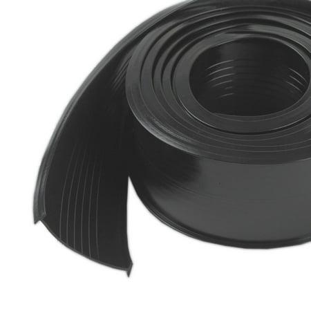 8460 Steel Garage Door Replacement Vinyl, 9 Feet, Black, Prevents drafts, dirt, insects and rain from entering under garage door By M-D Building (Best M-d Building Products Garage Doors)