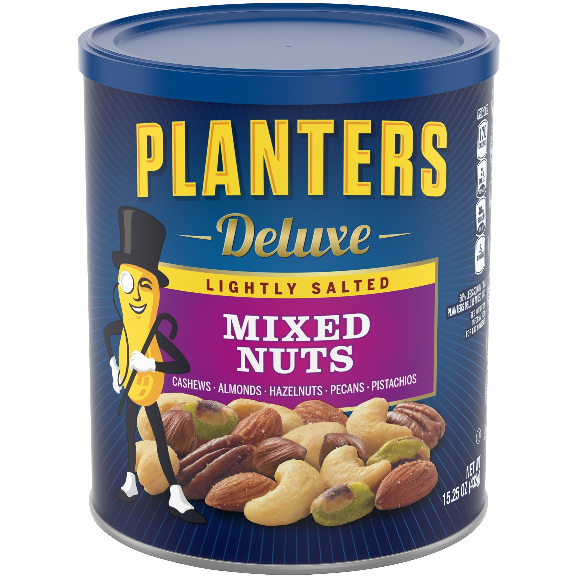 Planters Deluxe Lightly Salted Mixed Nuts 15.25 oz. Canister