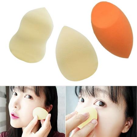 FeelGlad 3 Pcs Makeup Sponge Blending Sponge Wet-Dry Dual Use Powder Puff Applicator Complexion
