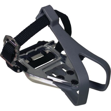 Altair 105 Type Silver Black With Toeclip And Strap Pedal