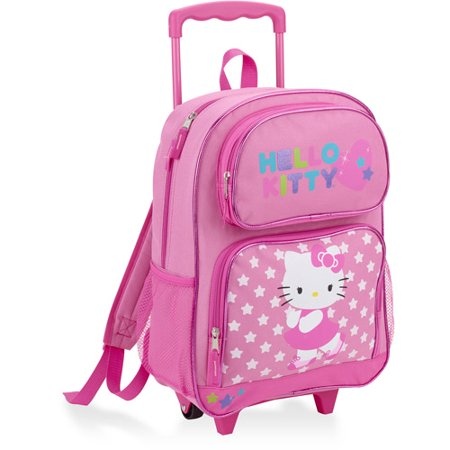 93196a20e9cf Hello Kitty - Hello Kitty Rolling Backpack - Walmart.com