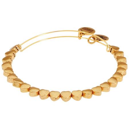 Alex And Ani Heart Beaded Bangle Rafaelian Gold Finish Bracelet A18BEAD01RG