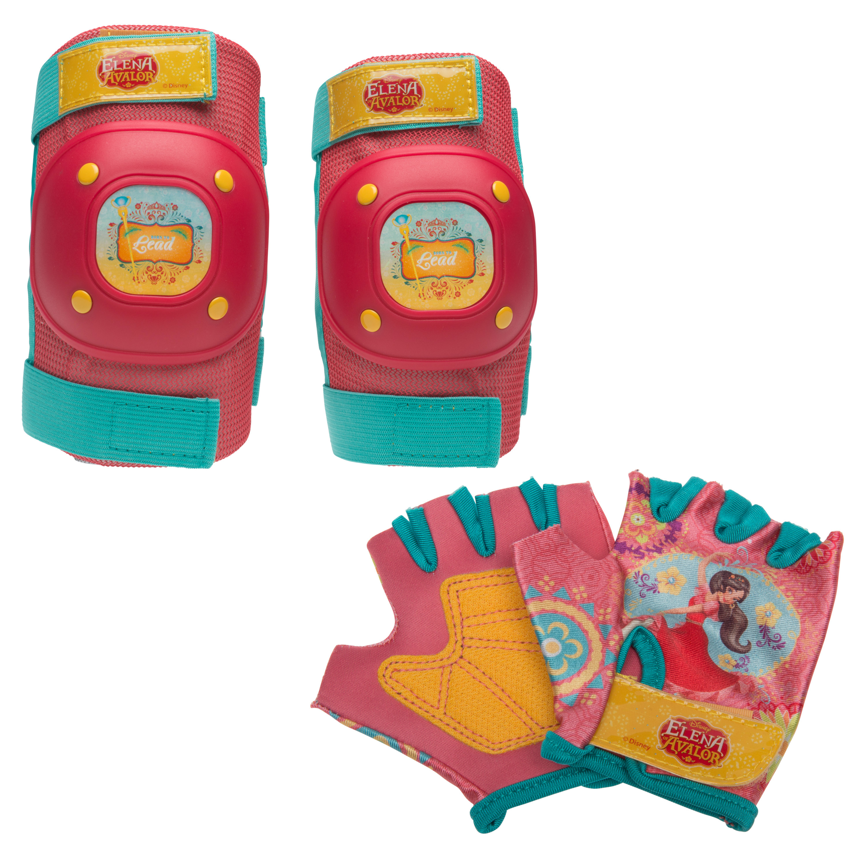 Bell Sports Disney Elena of Avalor Protective Pad and Glove Set, Red
