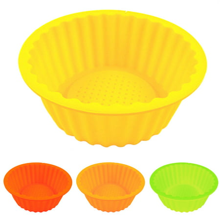 New 6   Round Silicone Cake Baking Mold Bake Brownie Dessert Pan Candy Chocolate