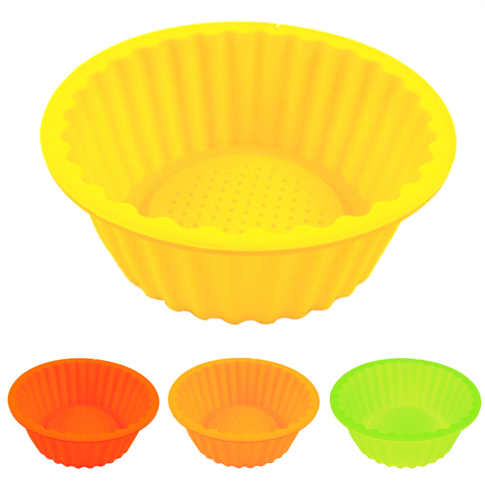 "New 6"" Round Silicone Cake Baking Mold Bake Brownie Dessert Pan Candy Chocolate"