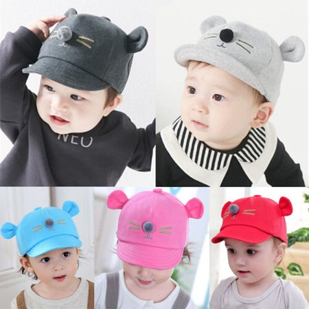 Baby Toddler Boy Girls Cute Cotton Hats Striped Baseball Cap Beret Sun Hat (Striped Hat)
