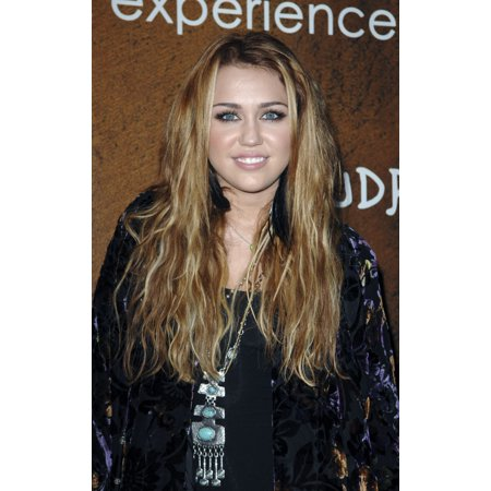 Miley Cyrus At Arrivals For Grand Opening Of Xandros Greek Restaurant Canvas Art     16 X 20