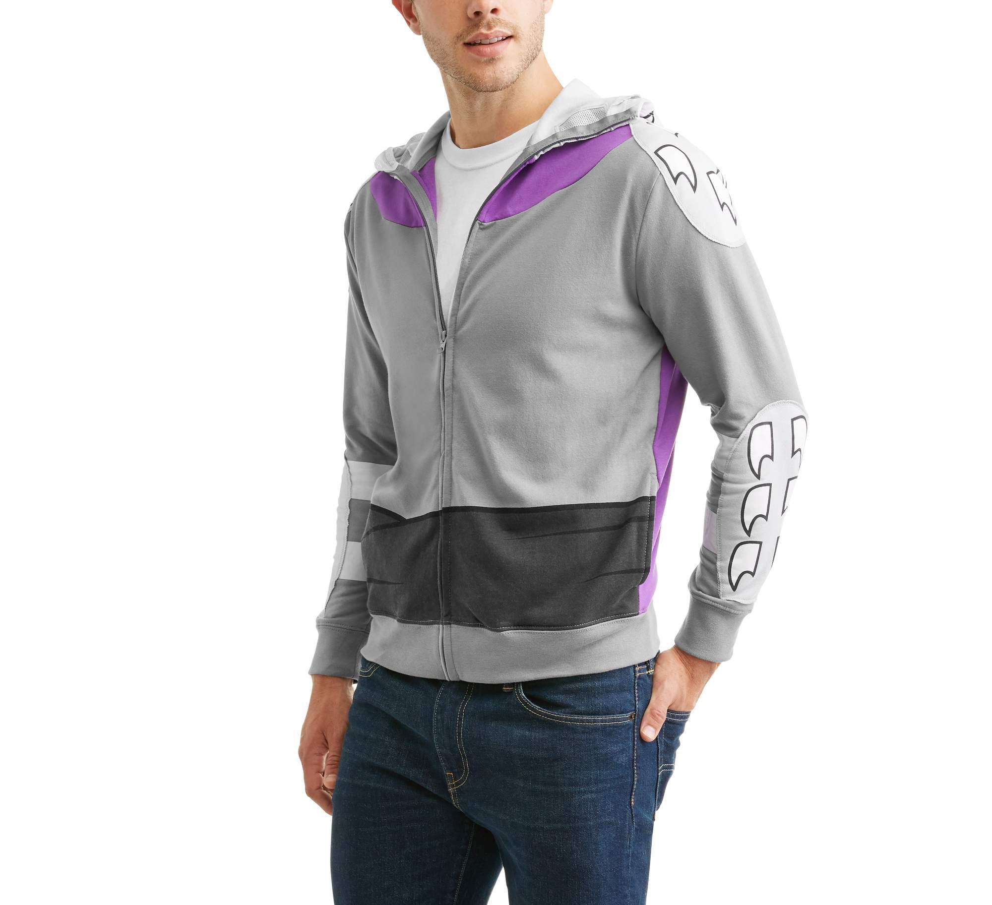 Adult Men/'s TMNT Teenage Mutant Ninja Turtles Shredder Zip-Up Hoodie Sweatshirt