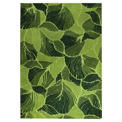 MA Trading Hand-Tufted Indo Oasis Green Rug (5'2 x 7'6)