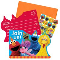 Sesame Street Elmos Big Bird Cookie Monster Birthday Party Invitations 16 Count Save the Date Stickers