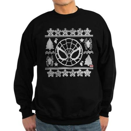 Classic Crewneck Sweatshirt - CafePress - Spider-Man Ugly Christmas - Classic Crew Neck Sweatshirt
