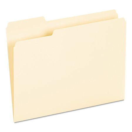 Universal Recycled Interior File Folders, 1/3 Cut Top Tab, Letter, Manila, 100/Box -UNV12213 (Letter File Folders)