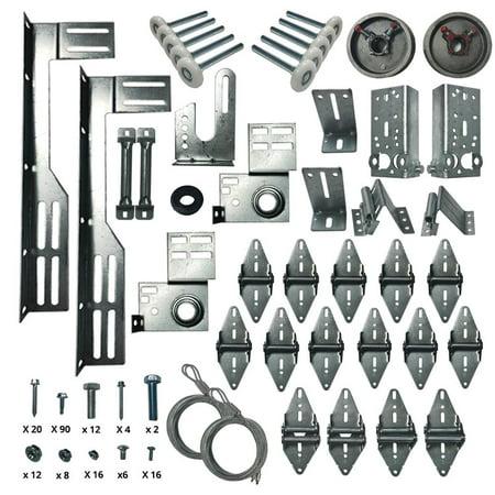Garage Door Hardware Installation Kit (for 16' x 7' (6 X 6 Roll Up Garage Door)