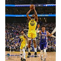 Andrew Wiggins Golden State Warriors Unsigned 3-Point Shot vs. Philadelphia 76ers Photograph