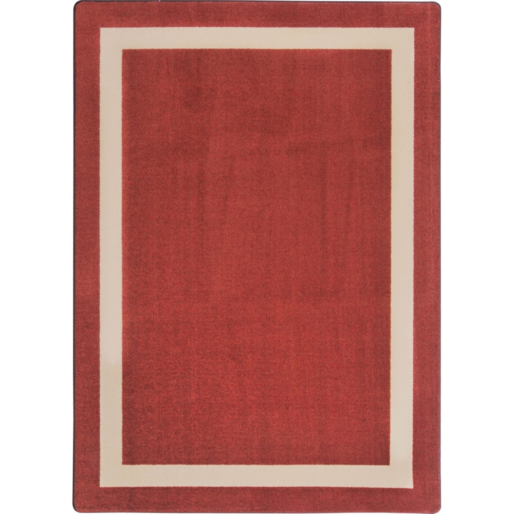 "Kid Essentials - Misc Solid Color Area Rugs Portrait, 10'9"" x 13'2"", Wine"