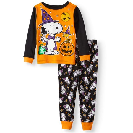 Toddler Boys' Halloween Glow-in-the-Dark Cotton Tight Fit Pajamas, 2-Piece - Halloween Pj