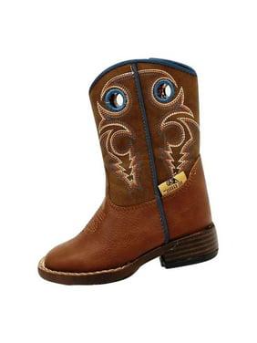 DBL Barrel 4416232-05 Double Barrel Western Boots Boys Kids, Brown - Size 5