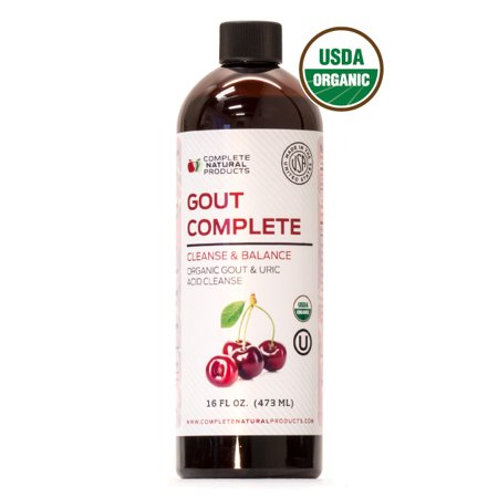 Uric Acid Complete - Natural & Organic Liquid Uric Acid Flush & Herbal Remedy Support Medicine (W/ Tart