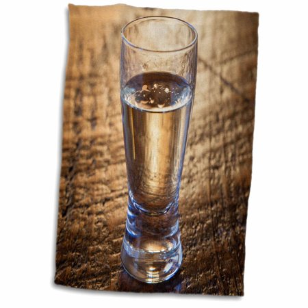 3dRose Single shot of Tequila on wood table. - Towel, 15 by