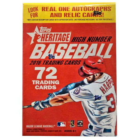 MLB 2016 Topps Heritage High Number Trading Card Blaster Box
