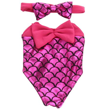 AkoaDa 18 Inch Doll Clothes Swimsuit +headwear Mermaid Bow Tie Swimsuit Doll Accessories Best Gift For