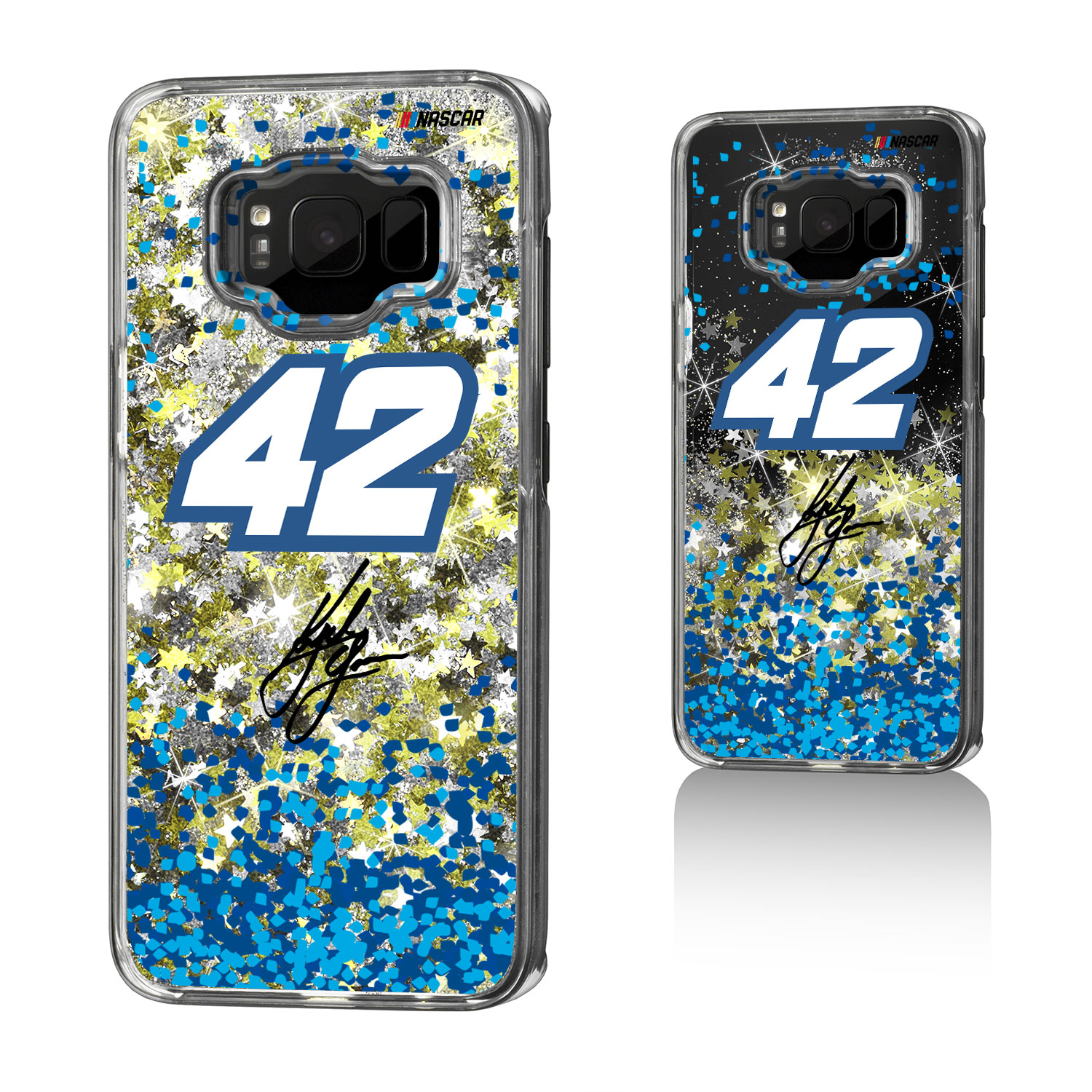 Kyle Larson Confetti Glitter Case for Galaxy S8