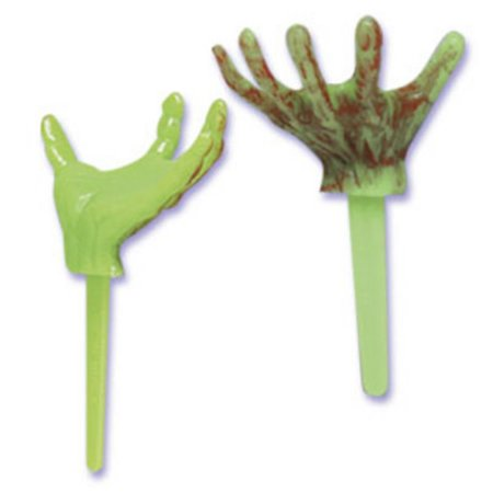 Zombie Monster Hands Cupcake Picks - 24 Picks (Zombie Cupcake)