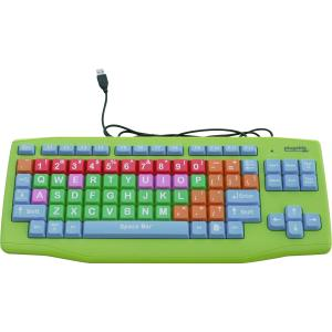 USB KIDS KEYBOARD EXTRA LARGE KEYS COLOR CODED