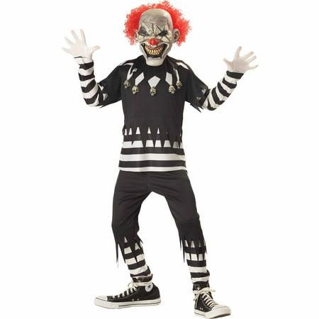 Creepy Clown Child Halloween (Men's Last Laugh The Clown Costume)