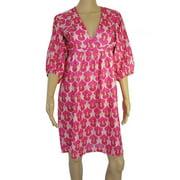 Womens 'Marie' V-Neck V Dress, Pink, Size S