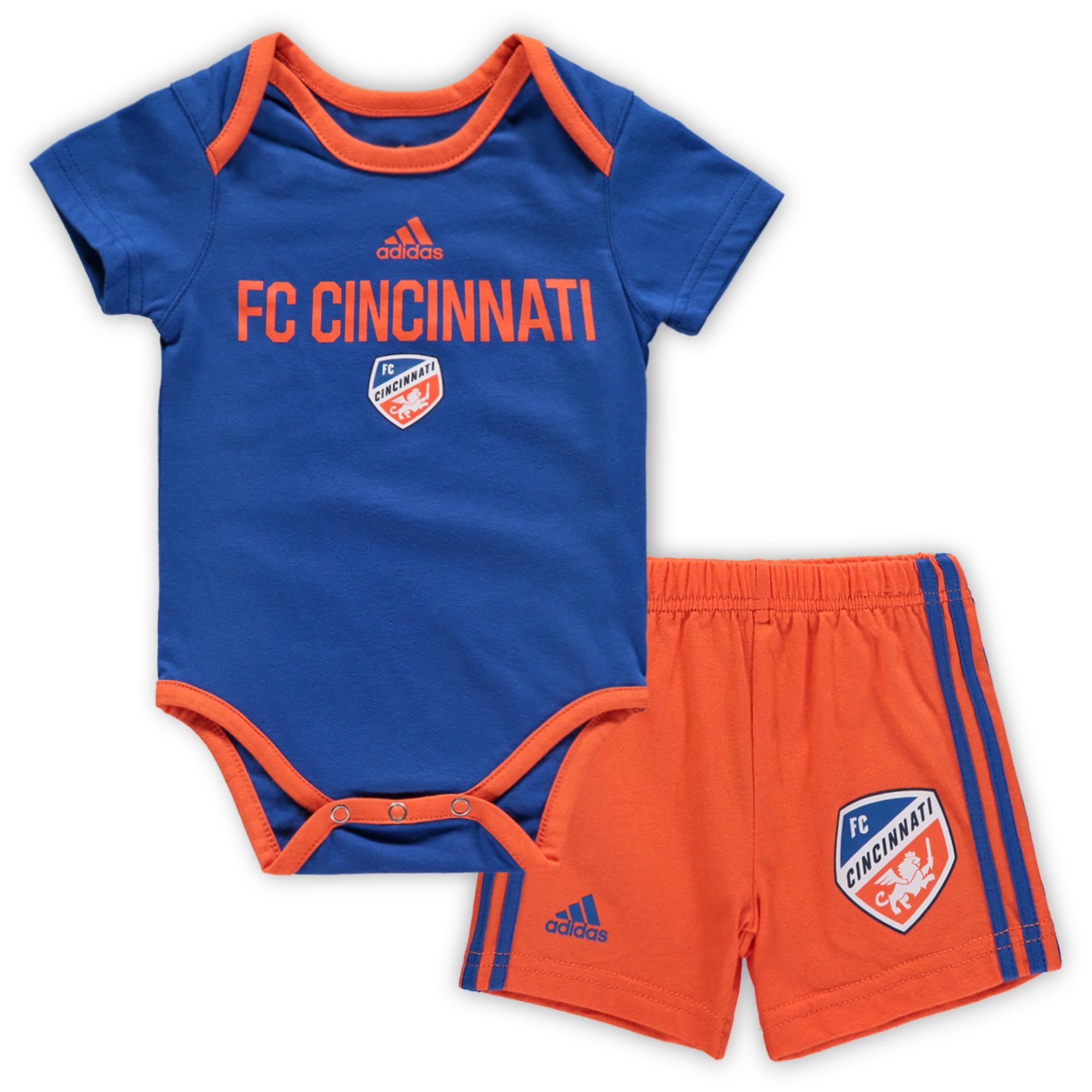 FC Cincinnati Newborn Bodysuit/Shorts Set - Royal/Orange