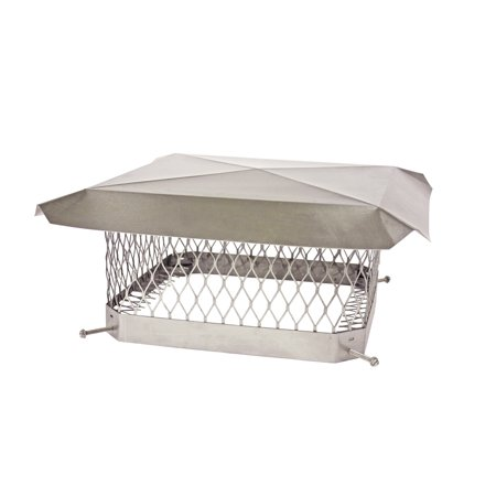 """HY-C Shelter Pro Stainless Steel Chimney Cap- 5/8""""-13x18"""