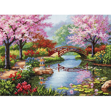 Gold Collection Japanese Garden Counted Cross-Stitch Kit, 16